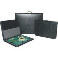 - Florence Presentation Case Leather Series, Zippered Portfolio Case with 10 Super Clear Archival Page Protectors, 8.5