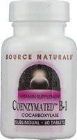 Source Naturals Coenzymated B-1 25mg - Quick Dissolve Vitamin - 60 Lozenges