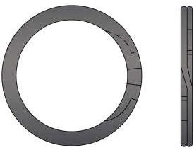 2-1//4 External Spiral Ring Pkg of 30 Spring Steel RS-225 Standard Duty USA