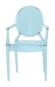Kartell 2852Y5 Lou Lou Ghost Children's Stool Transparent Ice Blue by Kartell