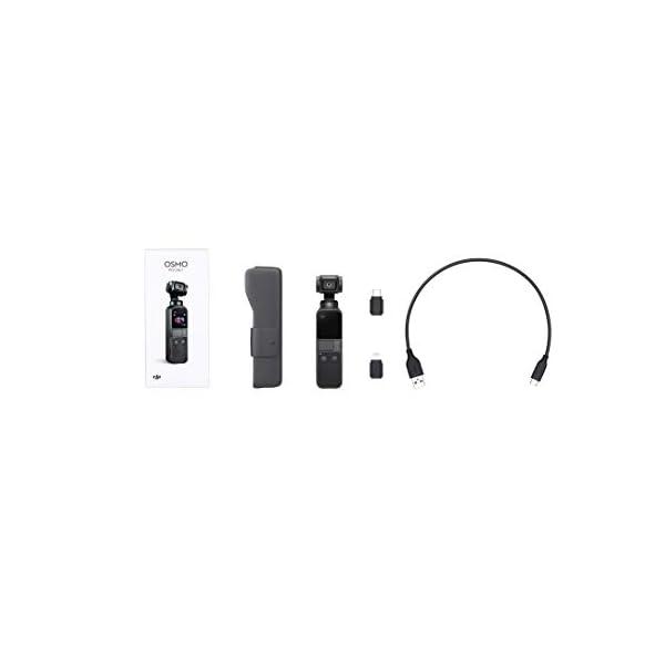 DJI Osmo Pocket - Stabilizzatore 3 Assi con Videocamera 4K Integrata, Risoluzione fino a 4K, 60 fps e Foto da 12 MP, Nero 6 spesavip