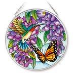 Amia Wisteria Glass Circle Suncatcher, Multicolor