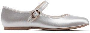 Katz Dancewear White Satin Bridesmaid Communion Flower Girls Shoes