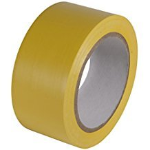 5S Premium Vinyl Safety and Dance Floor Marking and Splicing Tape, 6 mils Thick, 108 feet Length x 2 inches Wide, Yellow (One Roll)