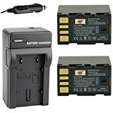 DSTE® 2x BN-VF823 Battery + DC36 Travel and Car Charger Adapter for JVC Everio GS-TD1 GY-HM70U GY-HM100U GY-HM150U...