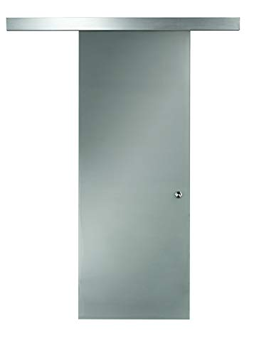 "Pinecroft 8BDGL3696OP Opaque Interior Glass Barn Door, 36"" x 96"""