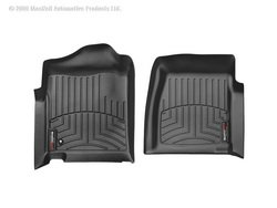 WeatherTech Custom Fit Front FloorLiner for Select Chevrolet/GMC Models (Black) ()