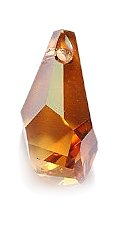 Swarovski Polygon Drop Beads, Crystal Effects, Copper, - Crystal Polygon Swarovski