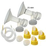 it for Medela Lactina, Symphony, Older Pump in Style Advanced Pumps; 2 Breastshields, 4 Valves, 6 Membranes, & 2 Tubes for Pump in Style Advanced Sold Before July 2006; Replacement Parts for Medela Breast Shield, Medela Tubing, Valves and Membranes ()