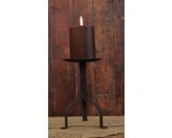Colonial Pillar Candle Holder in Black Wrought Iron, 8