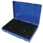 Westward 5PLG5 Pin Gage Set, Plus, 125 Pc, 0.501-0.625 In