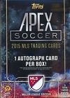 2015 Topps Apex Soccer Hobby Box (2 Autographs + 1 Crest Jumbo or Dual Relic Per Box) - Release Date August 26th