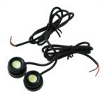 0.8W Waterproof Eagle Eye LED White Lights for Cars Automobiles(2 Pics)