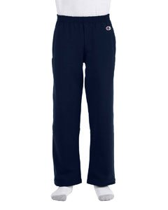 Champion Youth 9 oz 50/50 Open Bottom Sweatpants, NAVY, X-Large (50 Open Bottom Sweatpants)