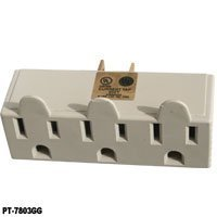 New 3 Outlet Electrical Wall Tap Grounded Adapter Plug - Outlet Locations Mall