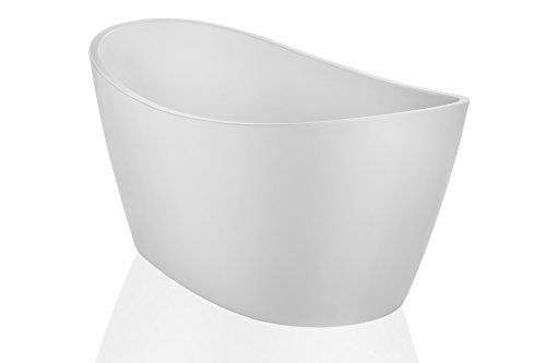 Empava 67'' Luxury Freestanding Acrylic Soaking SPA Tub Modern Stand Alone Bathtubs with Custom Contemporary Design EMPV-FT1518 by Empava (Image #3)