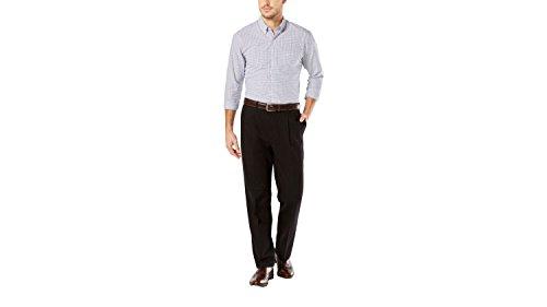 Dockers Men's Signature Khaki Classic-Fit Pleated Pant, Black - 34W x 31L