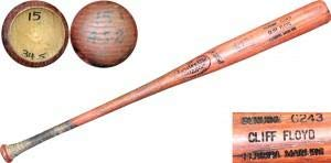 Mlb Unsigned Bats - Cliff Floyd Unsigned Game Used Louisville Slugger Bat - MLB Game Used Bats