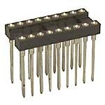 (Jameco Valuepro 6100-18W-R Socket IC Pin, 18 Pin Machine Tooled Wire Wrap, 0.515