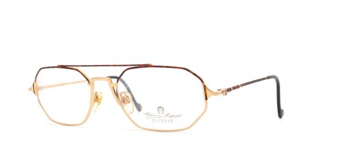 etienne-aigner-43-35-brown-and-gold-authentic-men-women-vintage-eyeglasses-frame