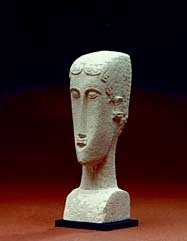 Modigliani Abstract African Inspired Female Head Replica MO02 Parastone ()