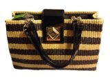 Kate Spade Marble Hill Straw Elena Natural Black WKRU2381