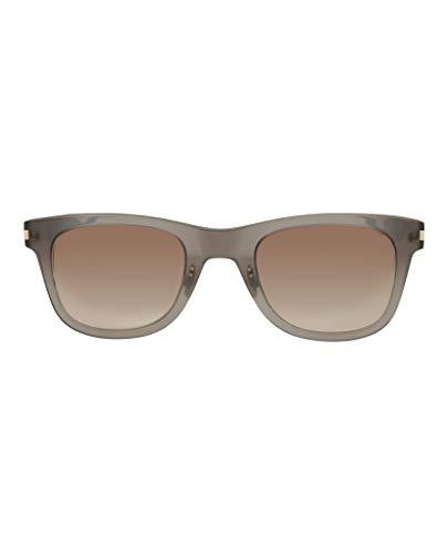 Saint Laurent SL 51 SLIM 005 Transparent Grey Plastic Rectangle Sunglasses Brown Gradient Lens ()