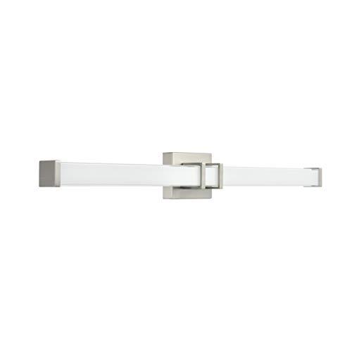 Baracino 36 inch LED Bathroom Vanity Lights | Brushed Nickel Bathroom Light LL-WL918-1BN-36