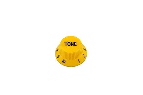2 Tone Knobs Yellow for Strat fits US Split Shaft Pots Allparts PK-0153-020