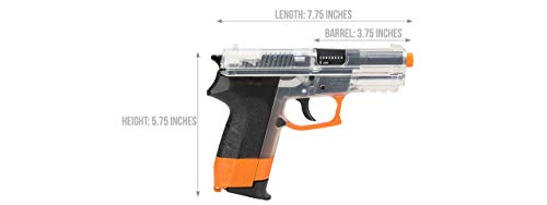 Sig_Sauer SP2022 CO2 Airsoft Pistol (Clear/Orange) W/ 6mm 0.12g BBS (Color May Vary) (1 Pistol, 1 Bag of BBS, 5 CO2 Cartridges)