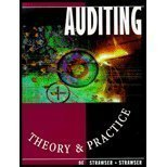 Auditing : Theory and Practice, Strawser, Jerry R. and Strawser, Robert H., 0873939336