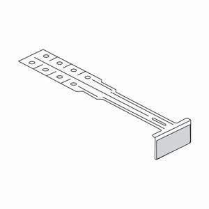 Peg Hook Label Holders, Plastic 12'', Pack of 50