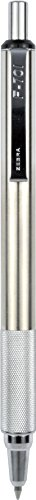 zebra-f-701-stainless-steel-ballpoint-retractable-pen-black-ink-fine-point-1-each-29411