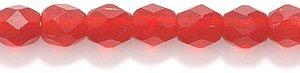 Preciosa Czech 4-mm Fire-Polished Matte  Glass Bead, Faceted Round, Transparent Light Garnet, 300/pack