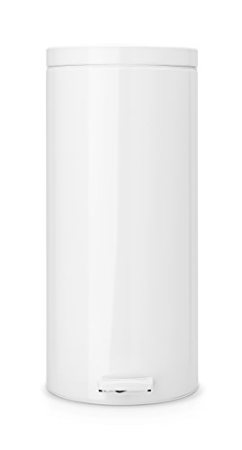 Brabantia Step Trash Can with Plastic Inner Bucket, 7 Gal. - White