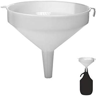 Beste Angebote Embudo Grande de 22 cm de diámetro, Embudo de plástico, Globo de Vino, Globo de Cristal