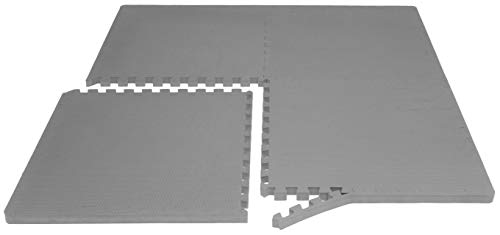 Prosource Fit Extra Puzzle Exercise EVA for Flooring for Home Gym Grey