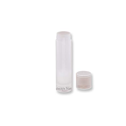 Empty Lip Balm Tubes, Clear/Transparent (Pack of 50)