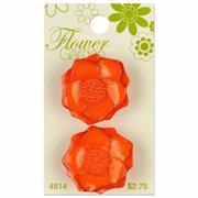 Flower Garden Orange Anemone Button (Anemone Garden)