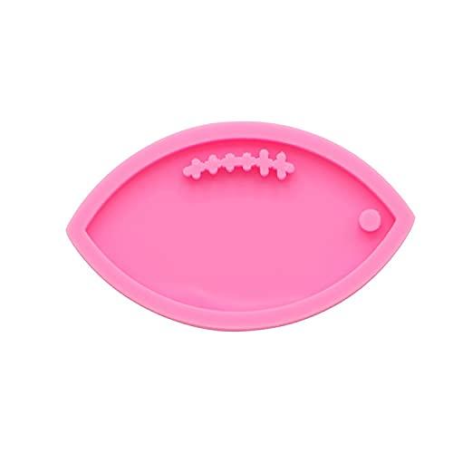 Football Shiny Silicone Keychain Mold, Football Silicone Mold, Silicone Key Chain Mold