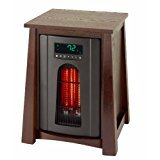 Lifesmart Products LS8WQHDLX13B Infrared Heater, 1500-watt, Dark Oak