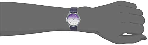 Juicy Couture Black Label Women's JC/1015OMPR Silver-Tone and Purple Mesh Bracelet Watch