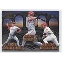 Curt Schilling; Scott Rolen; Gregg Jefferies; Lenny Dykstra; Ricky Bottalico (Baseball Card) 1998 Pacific Invincible - Team Checklists #21