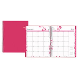 Blue Sky 2018 Weekly & Monthly Planner, Twin-Wire Binding...