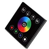 JOYLIT Wall-Mounted Acrylic 4Channels Touch Panel Controller for RGBW LED Strip Lights ()