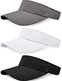 3 Pieces Sun Sports Visor Hats One Size Adjustable Cap for Women and Men (Color 1)