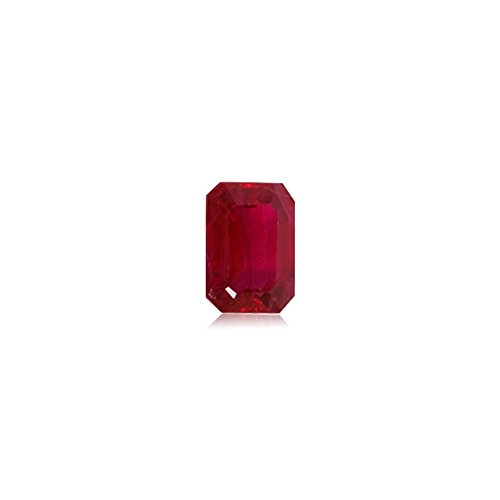 1.02-1.17 Cts of 7x5 mm AA+ Emerald Cut Natural Ruby ( 1 pc ) Loose Gemstone by Mysticdrop