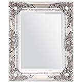 DOWNTON INTERIORS Small Shabby Chic Mirror Vintage SILVER Wall Mirror - Overall Size 17' x 21' (42cm x 52cm)