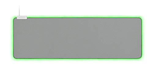 Mercury Material - Razer Goliathus Extended Chroma Gaming Mousepad: Customizable Chroma RGB Lighting - Soft, Cloth Material - Balanced Control & Speed - Non-Slip Rubber Base - Mercury White