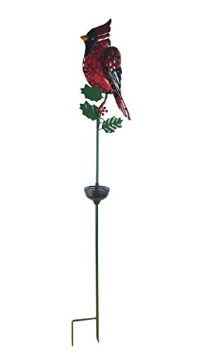 Glass Light Cardinals Night (Moonrays 90045 Solar Red Cardinal)
